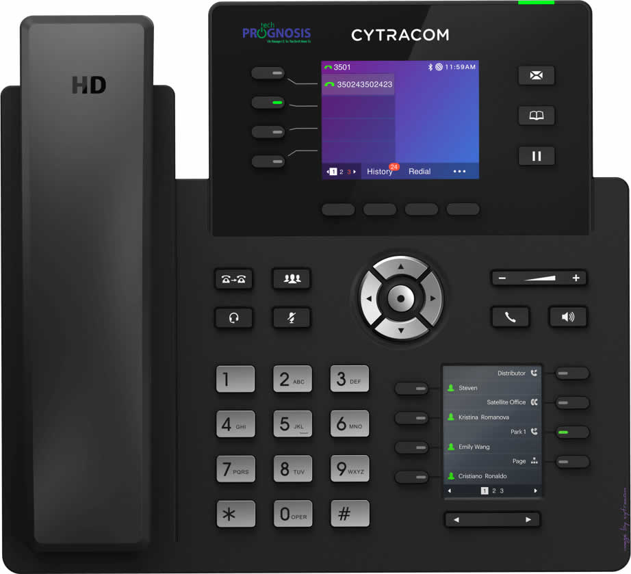 Voice-over-Internet Protocol (VoIP) desk phone